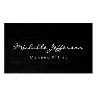 Makeup Artist Script Wood Effect Business Card