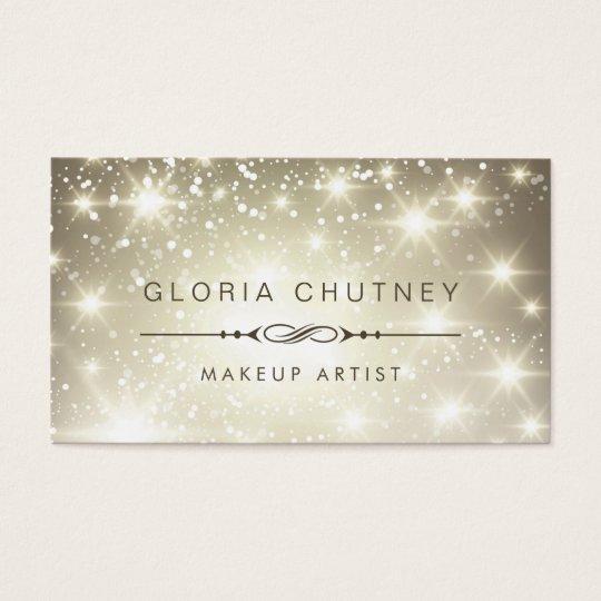 Makeup Artist - Sparkling Bokeh Glitter Business Card