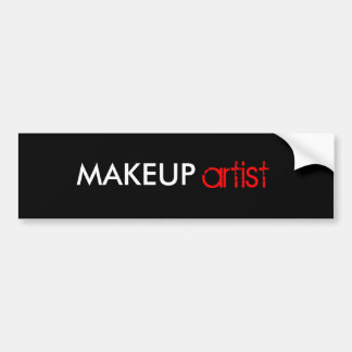 Makeup artist stickers bumper sticker
