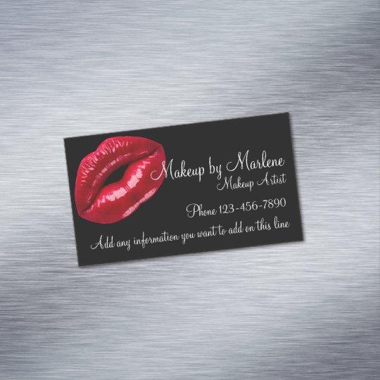 Makeup Artist Stylish Red Lips Fashionn Design Magnetic