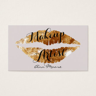 Makeup artist stylist make up lips business card