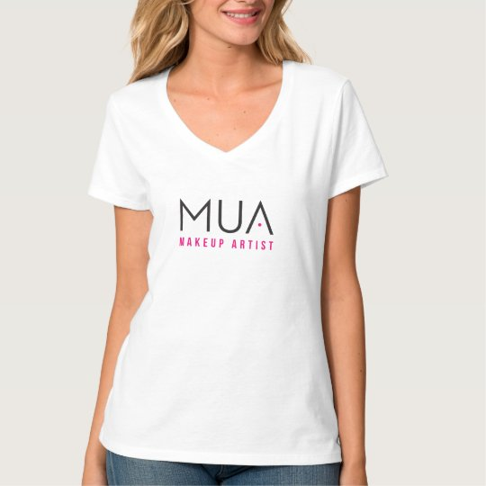 MakeUp Artist T-Shirt Women's White Design #001B