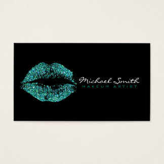 Makeup Artist Turquoise Lips #2 Business Card