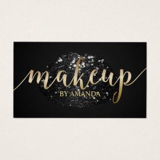 Makeup Artist Unique Black Glitter Lips Salon