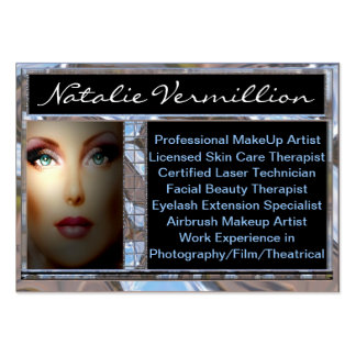 Makeup Artist Vermillion Professional Large Business Cards (Pack Of 100)