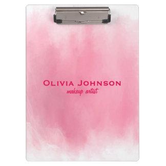 Makeup Artist Watercolor Pink Clipboard