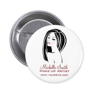 Makeup artist Woman Face long eyelashes branding 6 Cm Round Badge