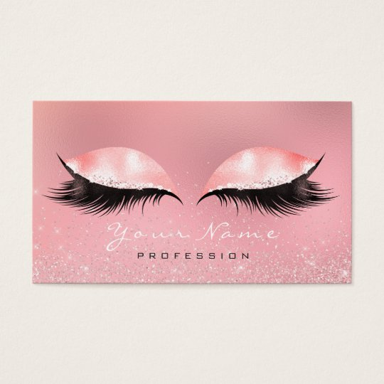 Makeup Beauty Pink Rose White Glass Lashes Glitter
