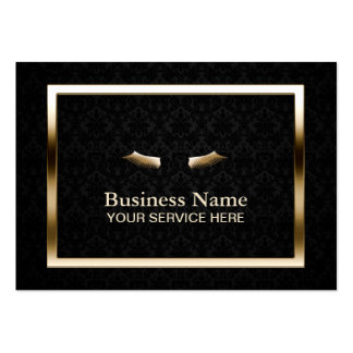 Makeup Beauty Salon Gold Frame Elegant Damask Pack Of Chubby Business Cards