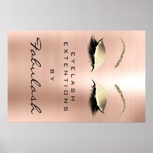 Makeup Beauty Salon Name Rose Gold Pink Eyebrows