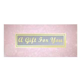 Makeup Beauty Salon Pink & Gold Gift Certificate