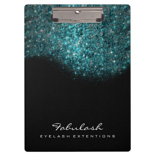 Makeup Beauty Studio Lashes Ocean Blue Sequin Clipboard