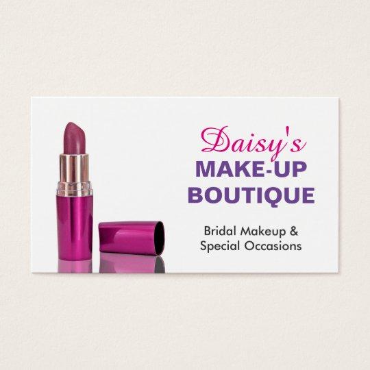 Makeup Boutique Salon Stylish Pink Purple Lipstick Business