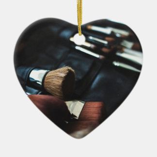 Makeup Brushes - Beauty Print Ceramic Heart Decoration