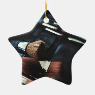 Makeup Brushes - Beauty Print Christmas Ornament