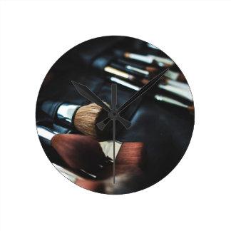 Makeup Brushes - Beauty Print Round Clock