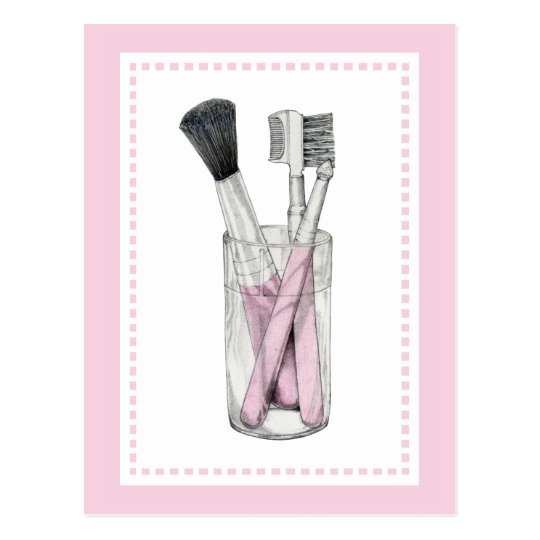 Makeup Brushes Postcard
