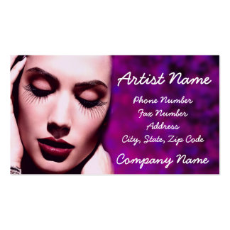 makeup Double-Sided standard business cards (Pack of 100)
