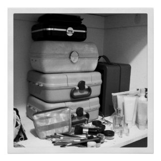 Makeup Collection Black White Photography Poster