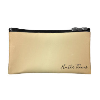 Makeup Cosmetic Coin Clutch - Light Gold Confetti