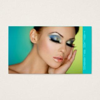 Makeup Cosmetics artist half face Business Card