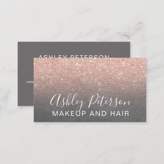 Makeup elegant typography grey rose gold glitter business card makeup elegant typography grey rose gold glitter business card colourmoves