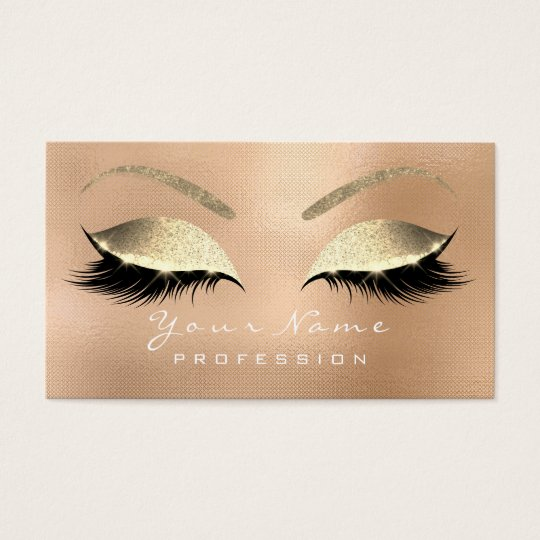 Makeup Eyebrow Eyes Lashes Glitter Rose Gold1 Business
