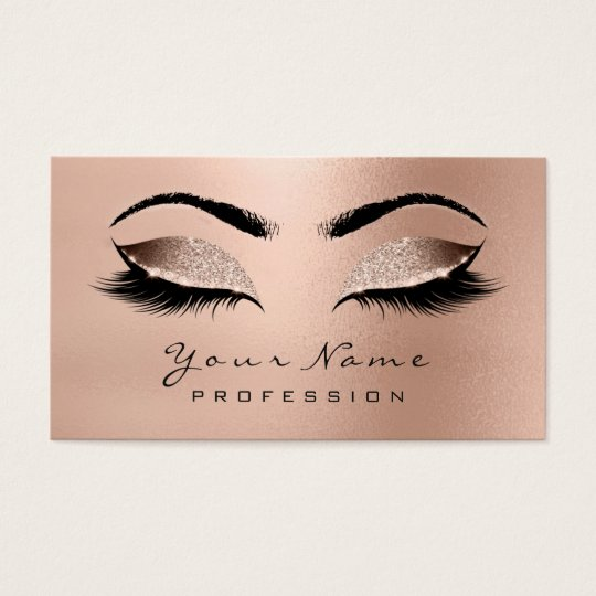Makeup Eyebrow Eyes Lashes Glitter Rose Gold Wow