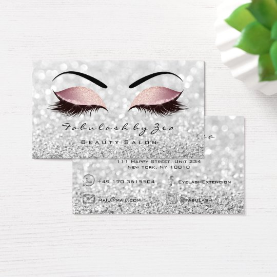 Makeup Eyebrow Lashes Glitter Silver Black Pink Business