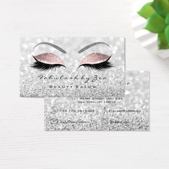Makeup Eyebrow Lashes Glitter Silver Gray Pink Business