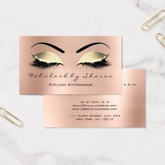 Makeup Eyebrow Lashes Glitter Skinny Rose Gold Business