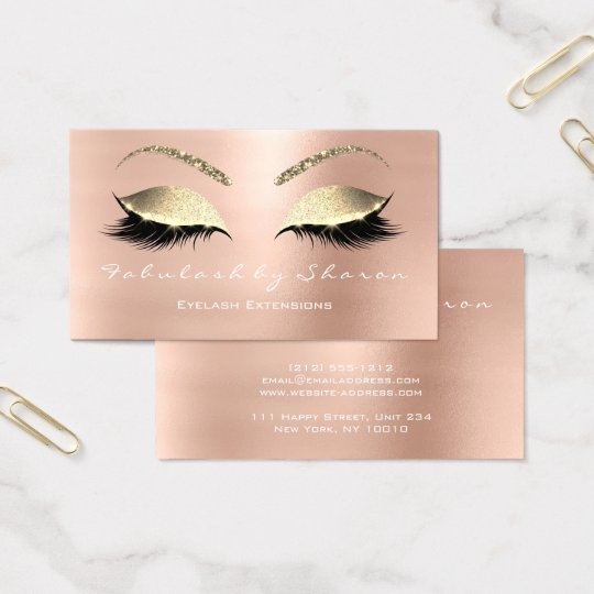 Makeup Eyebrow Lashes Glitter White Rose Gold Business
