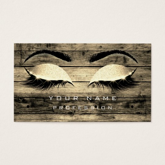 Makeup Eyebrows Lashes Rustic Black Wood Sepia Business