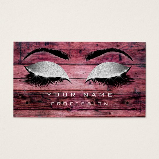 Makeup Eyebrows Lashes Rustic Black Wood Silver Business
