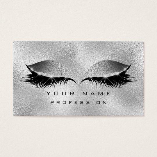 Makeup Eyes Lashes Glitter Glass Silver Gray Business