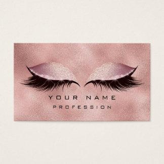 Makeup Eyes Lashes Glitter Rose Gold Blush Glam Business Card