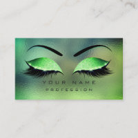 Makeup Eyes Lashes Glitter Tropical Green Eyebrow