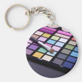 Makeup Eyeshadow Artist Fashion Chic Basic Round Button Key Ring