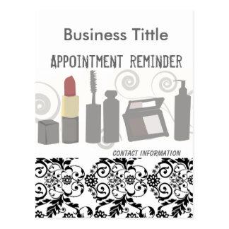 Makeup & Facial  Appointment Reminder Post Card