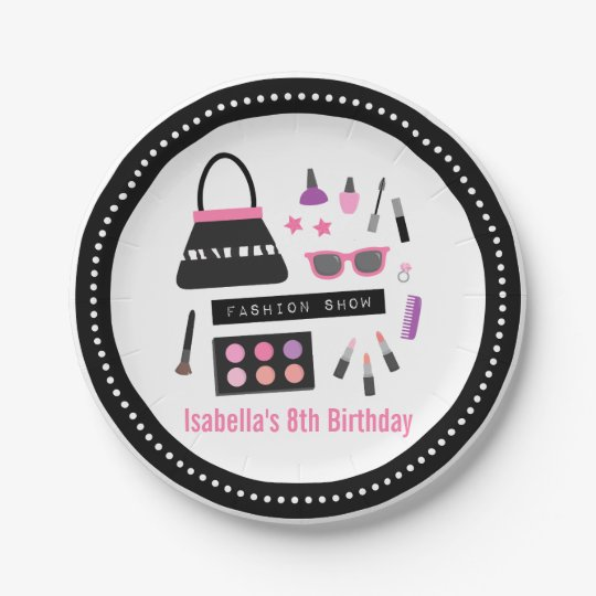 Makeup Fashion Show Birthday Party Supplies Paper Plate
