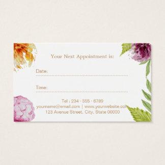 Makeup Hair Salon Watercolor Floral Appointment