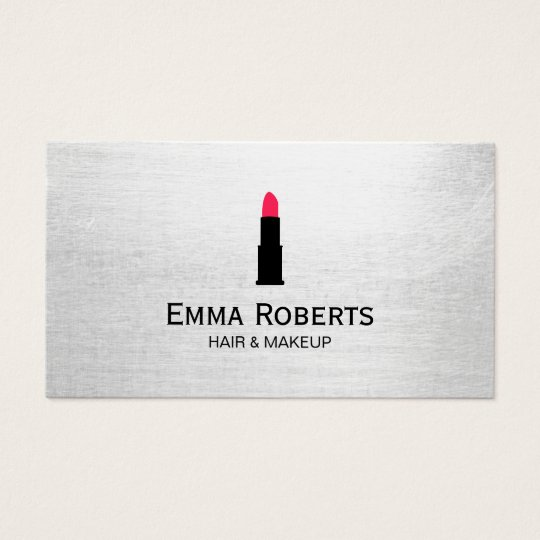 Makeup & Hair Stylist Lipstick Elegant Minimalist Business Card