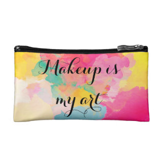 Makeup is my art, small cosmetic bag. cosmetics bags