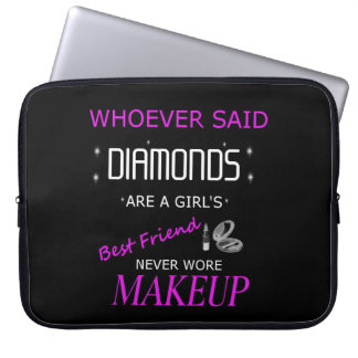 Makeup Is My Bff Laptop Sleeve