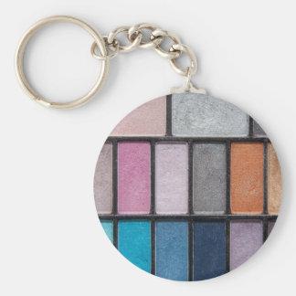 Makeup Basic Round Button Key Ring