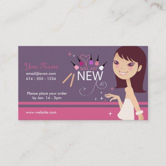 Makeup Nail Art Business Card Zazzle