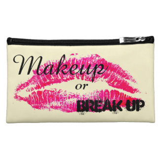 Makeup or Break up Cosmetic Bag - Pink Lips