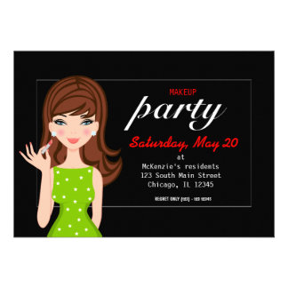 Makeup party invites