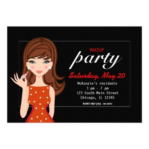 Makeup Party Custom Invitations