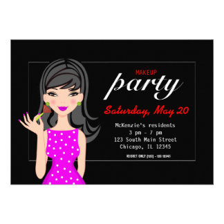 Makeup Party Custom Invites